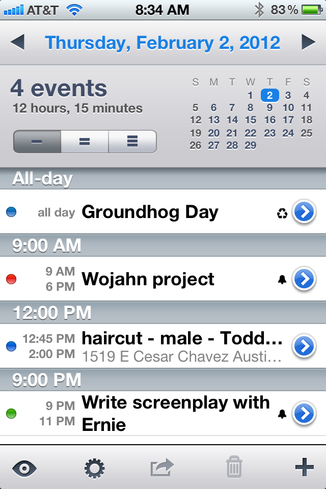 The best calendar app for iphone scottworld blog my rants and raves